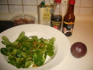 Feldsalat mit Passionsfrucht - Rezept