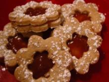 Plätzchen - Erdbeerblumen - Rezept