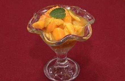 Exotischer Obstsalat mit Zitronensorbet - Rezept