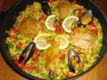 Rezept: Paella mit Hähnchen und Meeresfrüchten