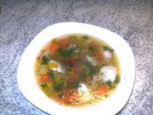 Hühnerbrühe   schmeckt   sehr lecker - Rezept