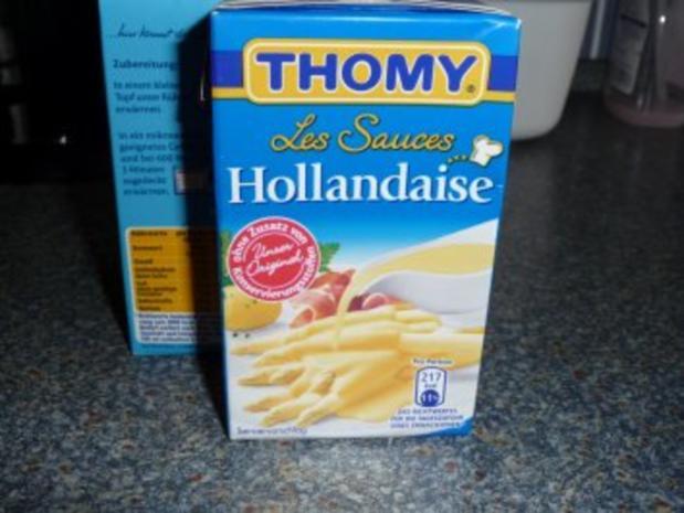 Schnitzel im Käsemantel mit Lauchgemüse auf Salzkartoffeln und Sauce Hollandaise - Rezept - Bild Nr. 7
