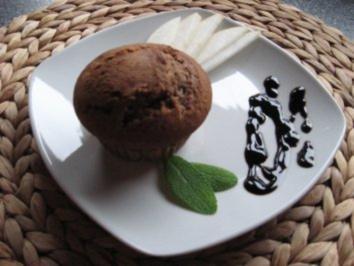 Schoko-Birnenmuffins mit Zimt - Rezept