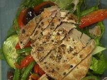 Salade Nicoise mit gebratenen Tunfisch- oder Hühnerbruststreifen - Rezept - Bild Nr. 9