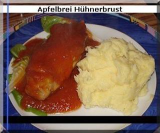 Huehnerbrust mit Apfelbrei - Casserole - Rezept