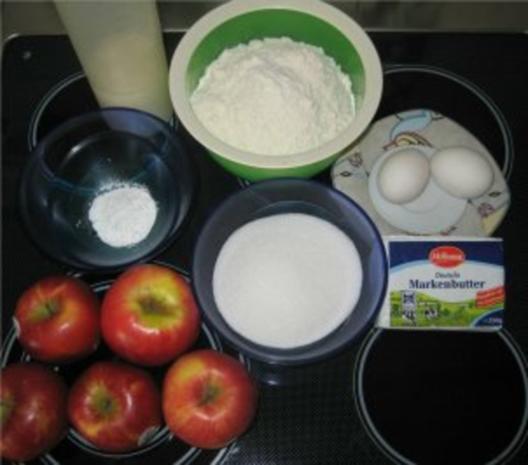 ** Kuchen & Co. ** Apfel - Rosinen - Streuselkuchen mit Vanilleglasur - Rezept - Bild Nr. 2