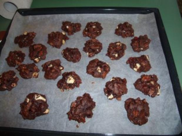 Double-chocolate Cookies - Rezept
