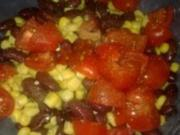 Scharfer Bohnen-Mais-Tomaten-Salat - Rezept