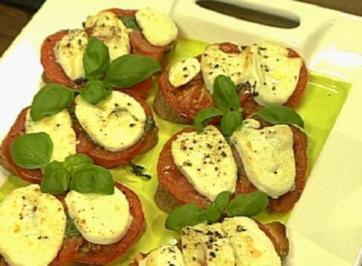 Rezept: Ciabatta mit Mozzarella und Basilikum-Pesto