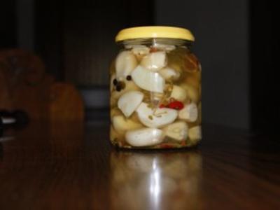 Knoblauch  eingelegt - Rezept