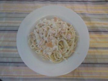 Rezept: Spaghetti in Lachs-Sahne-Soße