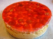 Marzipan-Quarkkuchen mit Mirabellen, Singlekuchen kleinste Form...(20 cm Durchmesser) - Rezept
