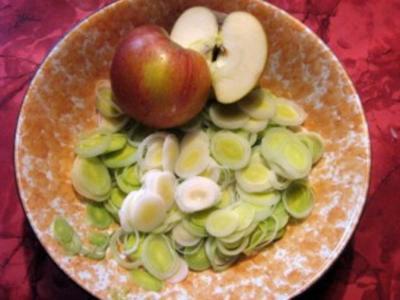 Schneller Lauchsalat - Rezept