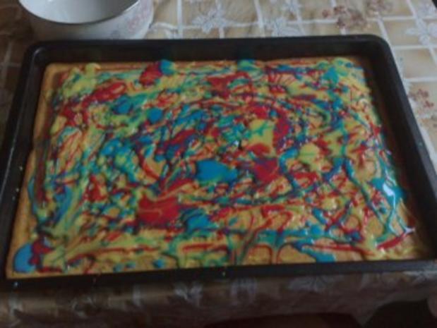 Bunter Selterkuchen zum Kindergeburtstag - Rezept