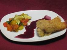 Lammfilet in Kartoffelkruste auf Rotweinjus mit Frühlingsgemüse - Rezept