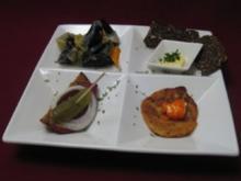 Muscheln auf rheinische Art, dazu Rievkochen mit Kölsche Kaviar - Rezept