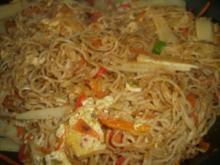 China-Nudelpfanne--vegetarisch - Rezept