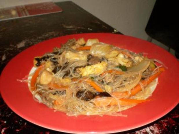 Asiatische Rindfleischpfanne mit Pilzen - Rezept