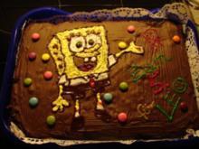 Deko-Idee: Geburtstagskuchen für SpongeBob-Fans und andere Motive für später..... ;-) - Rezept