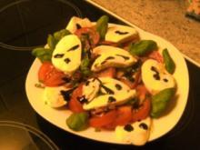 Tomaten mit Mozarella - Rezept