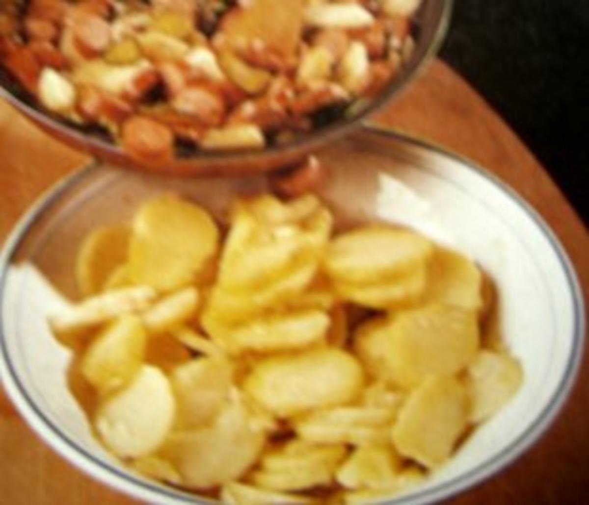 Salat : Warmer Kartoffelsalat - Rezept von backmaus
