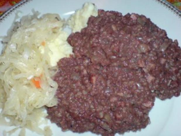 Grützwurst mit Quarkkartoffeln und Sauerkraut - Rezept - Bild Nr. 15