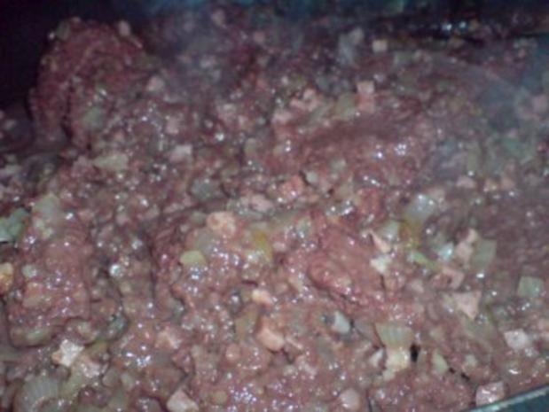 Grützwurst mit Quarkkartoffeln und Sauerkraut - Rezept - Bild Nr. 7