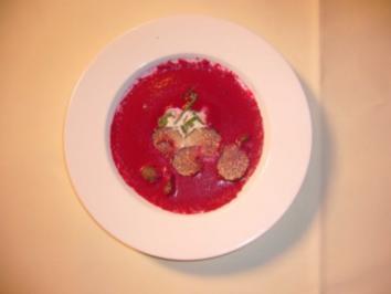 rote bete suppe mit angusfiletspitzen rezept. Black Bedroom Furniture Sets. Home Design Ideas