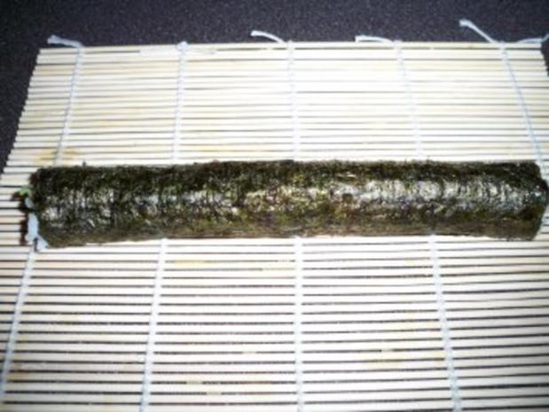 Sushi mit Chinakohl und Räucherlachs - Rezept - Bild Nr. 7
