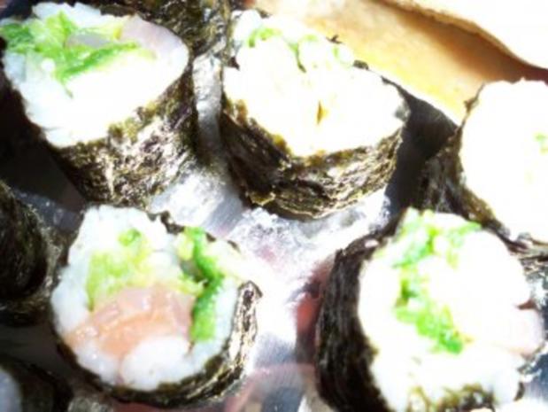 Sushi mit Chinakohl und Räucherlachs - Rezept - Bild Nr. 9