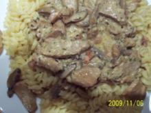 Geschnezeltes vom Schweinefiletkopf - Rezept
