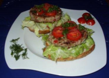 Hack-Gemüse-Burger - Rezept