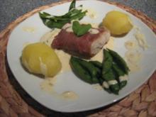 Serrano-Fisch auf Salbei-Senf Soße - Rezept