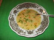 Reissuppe mit Selleriewürfelchen - Rezept