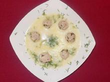 Eier-Zitronensuppe mit Hackfleischbällchen und Reis - Rezept