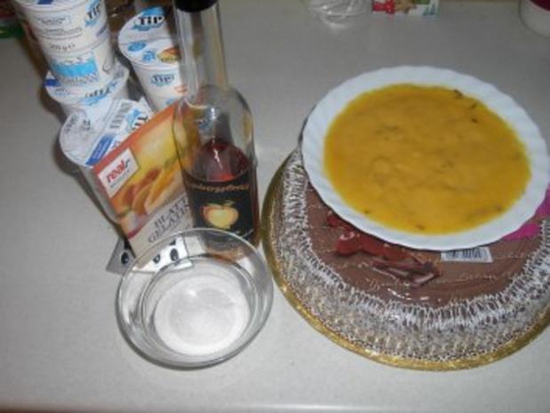 Pfirsich - Sahne - Torte - Rezept - Bild Nr. 4