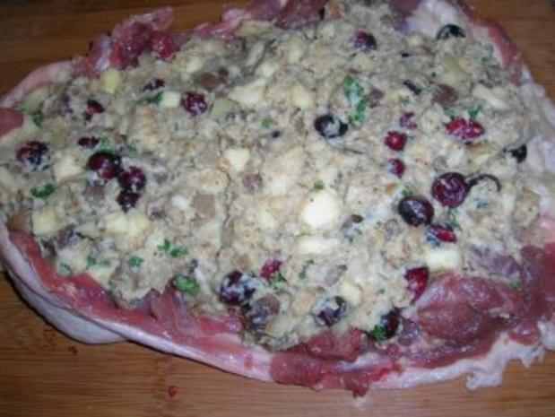 Gefüllte aber ENTBEINTE Ente mit Maronen ud Cranberries - schmeckt auch kalt sehr lecker mit entsprechender Beilage - Rezept - Bild Nr. 11