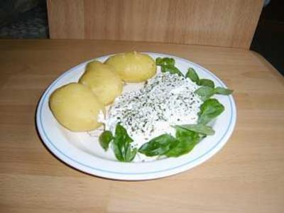 Pellkartoffeln mit Quark - Dip - Rezept