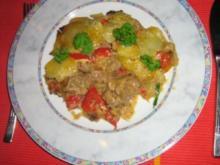 Gulasch vom Kalb unter einer Kartoffelhaube - Rezept