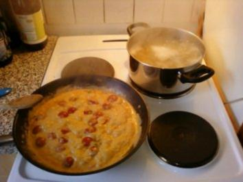Rucola-Shrimps-Nudeln - Rezept