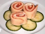 VORSPEISE - Pfannkuchen-Lachs-Frischkäse-Röllchen - Rezept