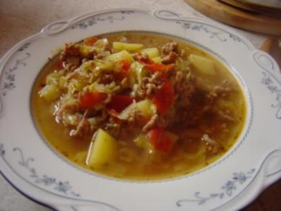 Spitzkohl-Eintopf mit Hackfleisch... - Rezept