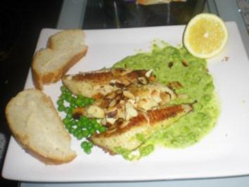 Fischfilet auf Wasabi-Erbspüree - Rezept