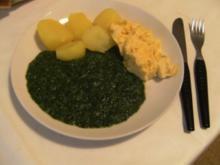 HAUPTGERICHT - Spinat, Rührei und Salzkartoffeln - Rezept
