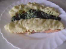 Lachsfilet mit  Kartoffel-Käsekruste - Rezept