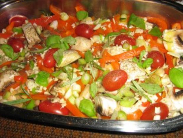 Kalbssteak im Speckmantel auf  Kartoffelgemüse überbacken. - Rezept - Bild Nr. 5
