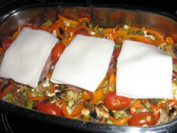 Kalbssteak im Speckmantel auf  Kartoffelgemüse überbacken. - Rezept - Bild Nr. 7