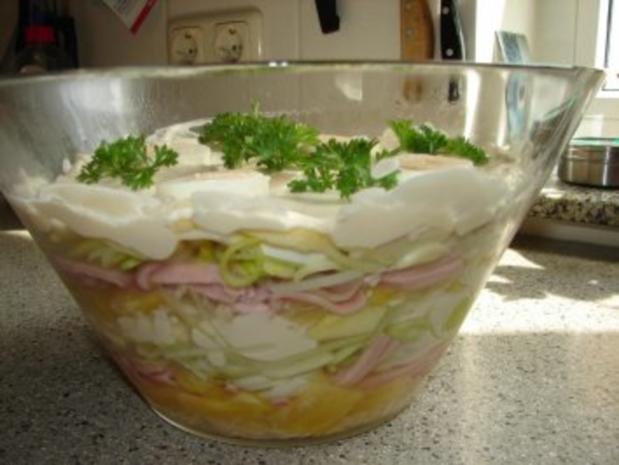 Salate:  Schichtsalat - Rezept - Bild Nr. 2
