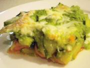 Zucchini-Erbsen-Gratin - Rezept