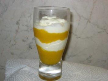 Joghurt-Pfirsich-Dessert - Rezept